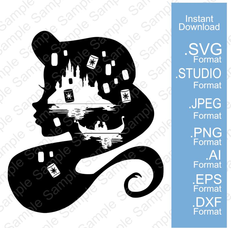 Midnight Tangled Svg Unique Designs By Monica Store